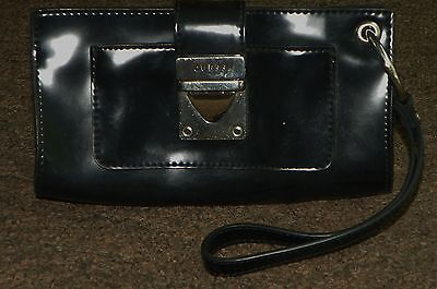 GUESS Black Evening BAG Small PURSE Wristlet Wrist Strap
