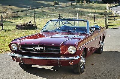 1965 Ford Mustang  1964 1/2 Ford Mustang Convertible 260, Power Steering, Auto, Longterm Ownership