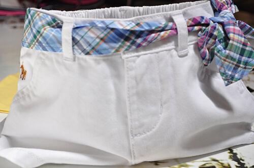 Ralph Lauren Girls Nautical White Cotton Shorts Size 12 Months