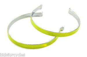 METAL BICYCLE CYCLE BIKE HI VIS VIZ REFLECTIVE TROUSER BANDS CLIPS - PAIR