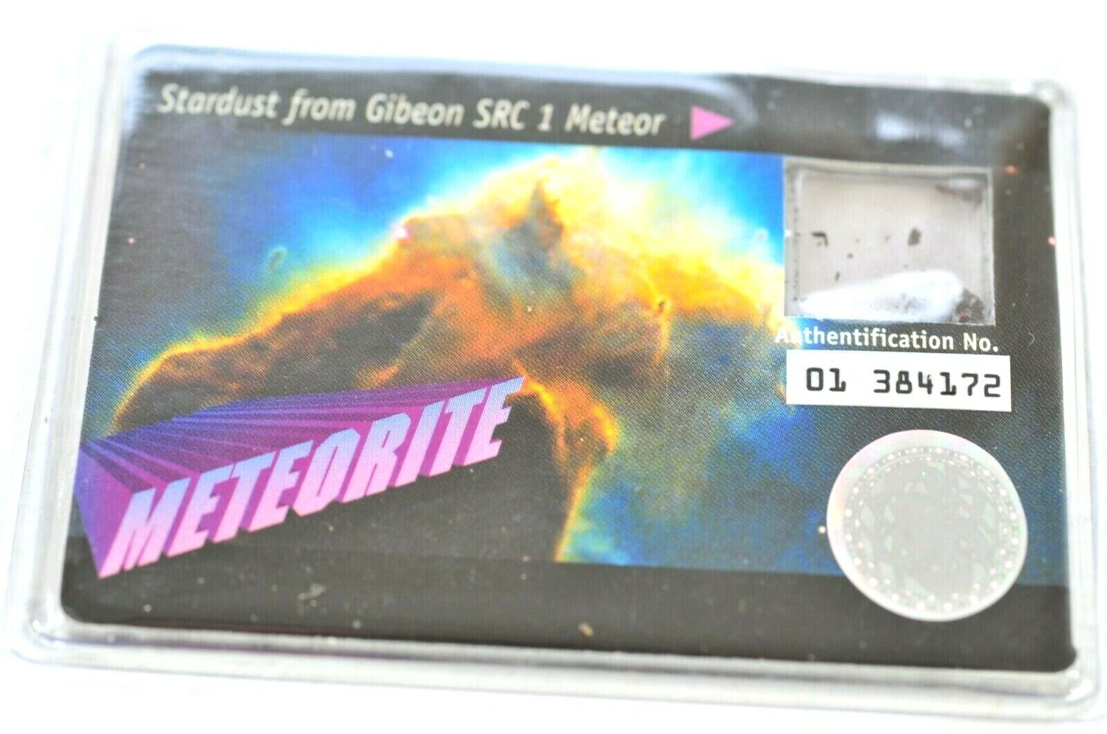 RARE METEORITE STARDUST from GIBEON SRC 1 METEOR - SEALED AUTHENTIFICATION