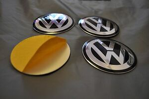 SET-of-4-metal-ALLOY-WHEELS-SELF-STICKERS-CENTER-CAPS-MANY-SIZES-VW