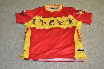 PRIMAL WEAR CURIOUS GEORGE CYCLING JERSEY YOUTH SIZE 8 69ae9719d