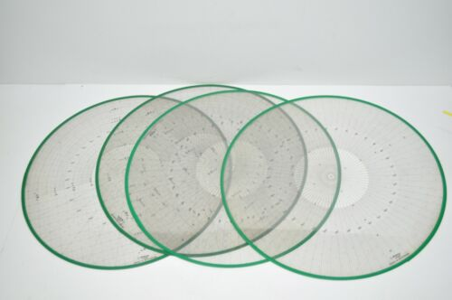 Lot of 4 Genuine Mitutoyo Optical Comparator Overlays Part# 511344 & 511346