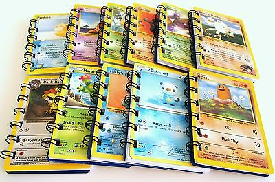 18 Pokemon Birthday Party Favors Notebooks Binded Cards into Custom Made Notepad