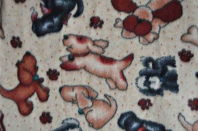 """DOG/ CAT PET FLEECE BLANKET -PLAYFUL PUPPIES - 30X36"""" TOO CUTE 001"""