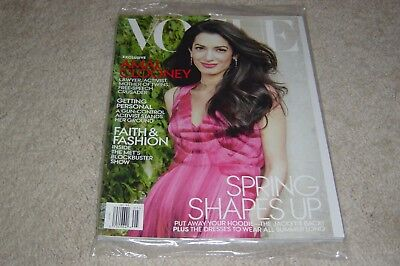 AMAL CLOONEY * SPRING SHAPES UP May 2018 VOGUE MAGAZINE NEW * PARTIALLY SEALED for sale  Las Vegas