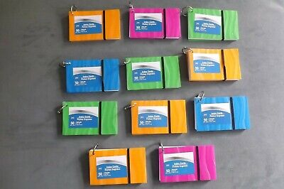 11 Pack Steel Ring Bound Index Cards 3 X 5 Ruled 50 Ct Assorted Colors School