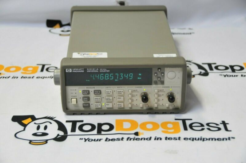 HP 53131A UNIVERSAL COUNTER 225MHz with Warrany and Cal cert