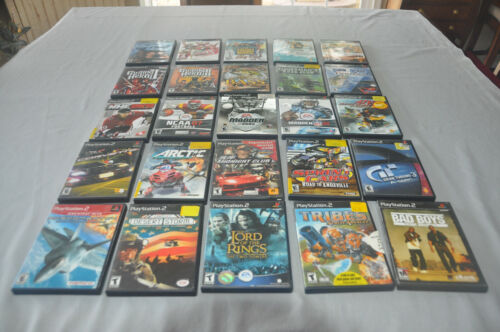 Lot of 25 PS2 Sony Playstation 2 Video Games