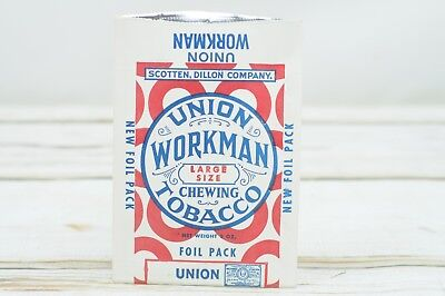 1930s Handbags and Purses Fashion Vintage 5 NOS  1930s Union Workman Chewing Tobacco Advertising Bag Heavy Paper $10.00 AT vintagedancer.com