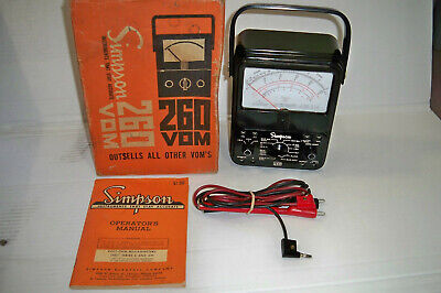 Simpson 260 Series 6 Vom Multimeter Collectible Great Condition