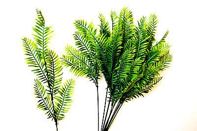 12 Strauß (12 Palme Palmwedel Strauß Kunstpalmen Künstliche Blätter künstliche Floristik K3)
