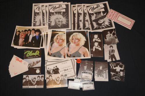 68 items 1979 Official Blondie Fan Club Pack Debbie Harry Vintage Collectors Lot