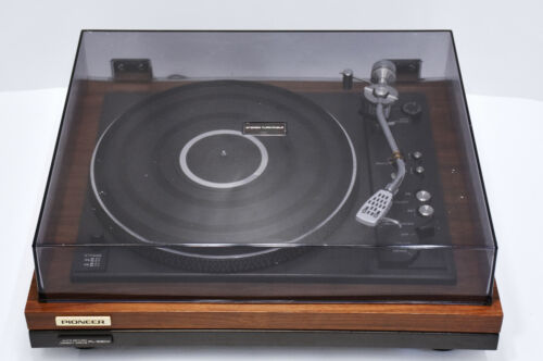 PIONEER PL-55DX DIRECT DRIVE TURNTABLE W SHURE M92E NEW STYLUS SERVICED