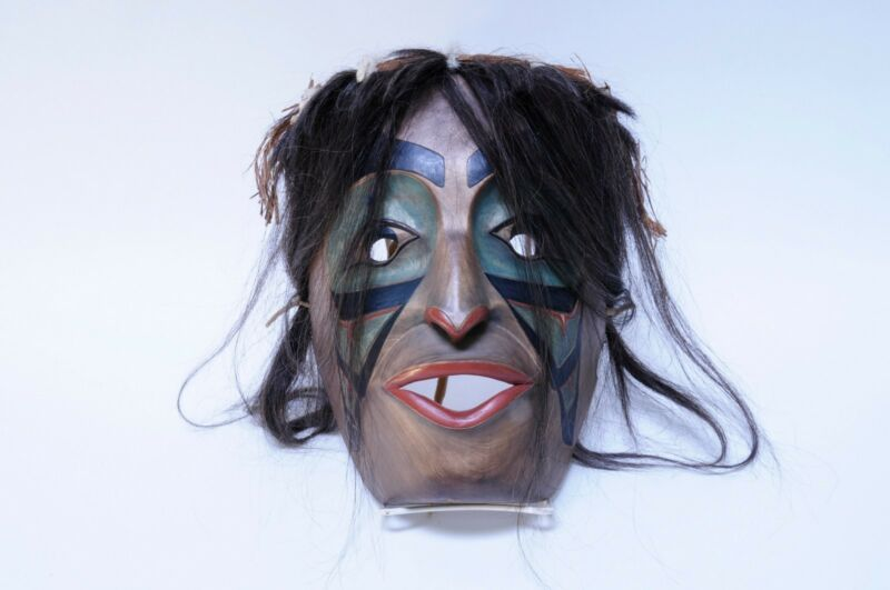 Northwest Coast Portrait Mask by Ron A. Sebastian c. 1980