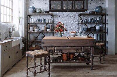 Butcher Block Kitchen Counters - Farmhouse Cocoa Bean Kitchen Island Counter Butcher Block Mahogany  B