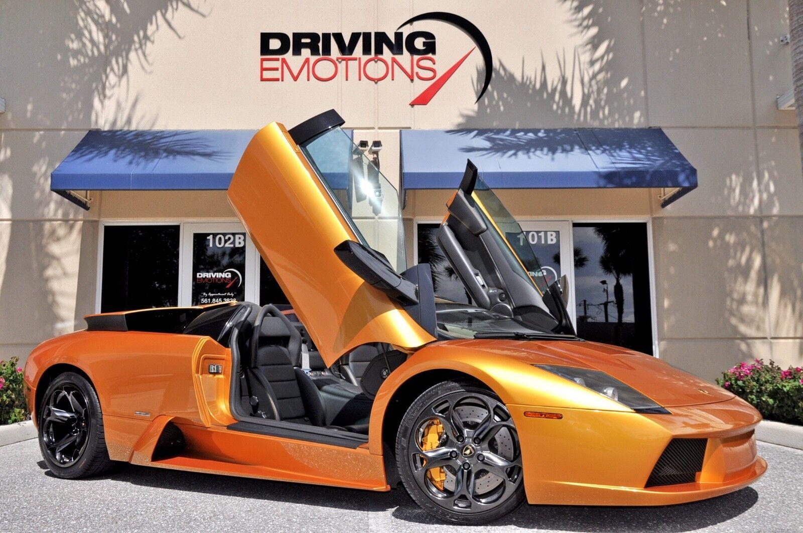 2005 Lamborghini Murcielago Roadster 2005 LAMBORGHINI MURCIELAGO ROADSTER! ORO ADONIS! E-GEAR! RARE COLOR! LOW MILES!