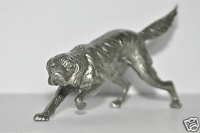 STUNNING HUNTING DOG FIGURINE SILVER PLATED SIGNED ITALY
