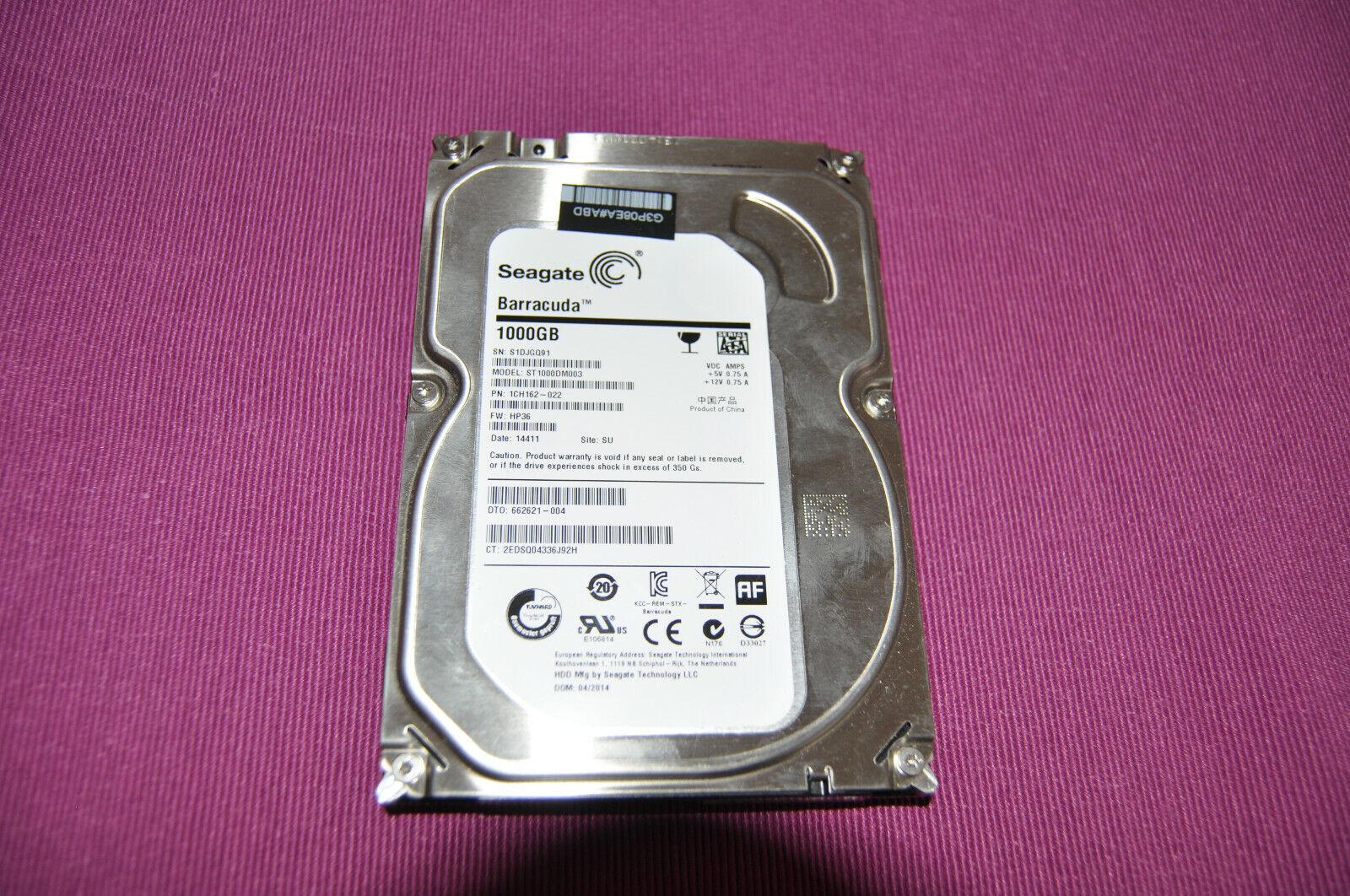 1TB Festplatte Seagate Barracuda Intern 8.9cm 7200RPM ST1000DM003