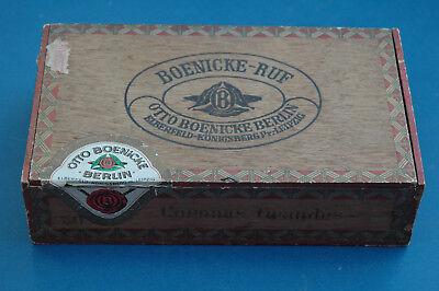 antike Holz Zigarrenschachtel Boenicke-Ruf  -10Rpf das Stück - Schachtel leer