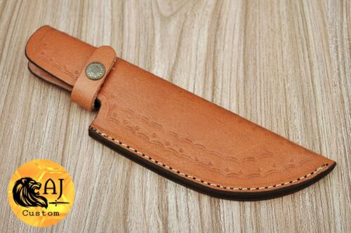 "8"" CUSTOM HAND MADE COW LEATHER SHEATH FOR FIXED BLADE KNIFE – AJ S"