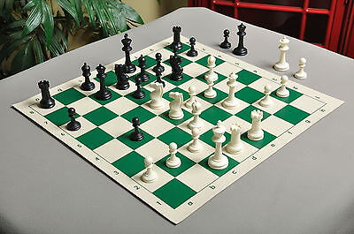 """USCF Sales Competition Plastic Chess Set - Pieces Only - 3.75"""" Black & white"""