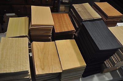 "Special! Grab Box full of 5"" x 8"" sheets of mixed wood veneer      IC50"