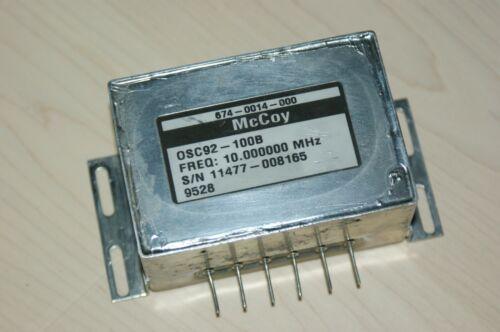 McCoy Ovenized 10 MHz Oscillator  OCXO 12 VDC Sine Wave Output OSC92-100B