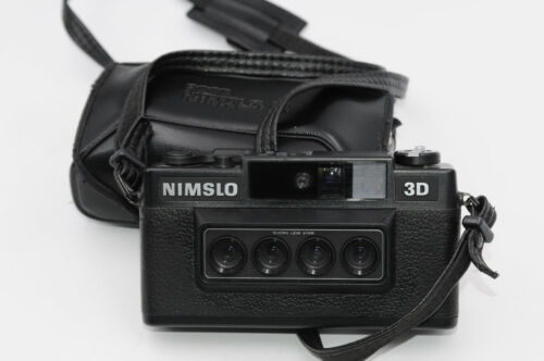 Nimslo 35mm 3D Camera W/Case And Batteries - Tested & Working