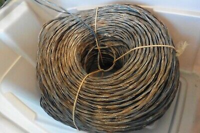 Strand Bell Wire (Vintage Western Electric Cloth Wire Bell system Stranded twisted 16/2 25 feet )
