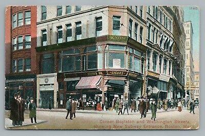 Cigar Store—Boylstone & Washington Street BOSTON Rare Antique Downtown (Downtown Boston Stores)