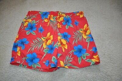 "Nautica Men's Hawaiian Floral Printed 6"" Swim Trunks XXL Shorts  EUC"