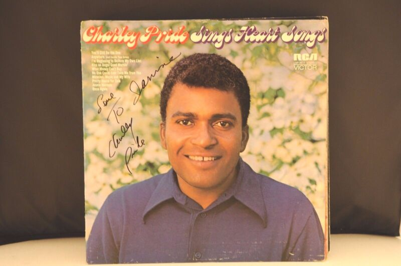 Charley Pride Sings Heart Songs Autographed Signed LP Album PSA Guaranteed