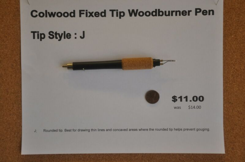 Colwood Fixed Tip Woodburner Pen Tip Style J