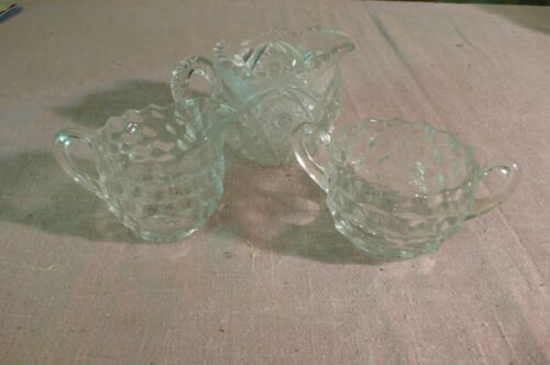 ANTIQUE table item esTaTe SaLe fifth gEnEraTiON FaMiLly owned♧ Glass creme sugar