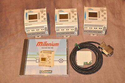 Crouzet Millenium Mas 10 Rcd 3 Pcs Software Cable And Manual