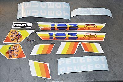 kit autocollant Stickers Peugeot 103 slc série spécial