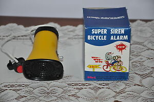 TRULY-NEW-OLD-STOCK-VINTAGE-1970S-SUPER-SIREN-BICYCLE-ALARM-3-SOUNDS-TESTED
