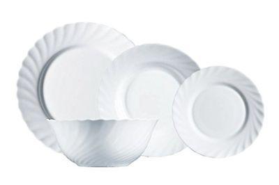 Porcelain Dinner Set 19 Piece Luminarc Kitchen Dinnerware Service Plate Ceramic Service Plate