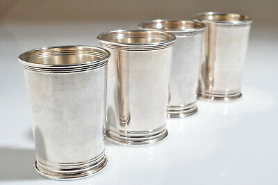 Vintage Newport Mint Julep Cups Silver plate .... Nice....