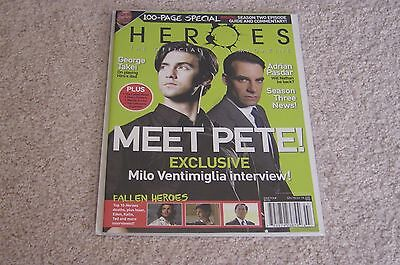 Heroes Official Magazine  4 Milo Ventimiglia Adrian Pasdar New   George Takei