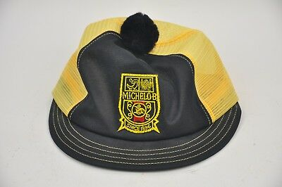 New Old Stock Vintage MICHELOB Anheuser-Busch Black/Yellow POM Snapback Hat (Anheuser Busch Stock)