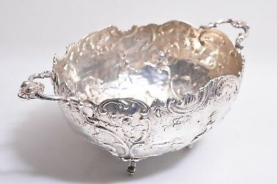 Antique Repousse Sterling Silver Hoof Foot Bowl Farming Sheep Herder Landscape