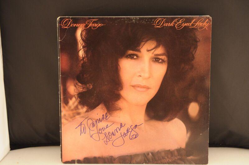 Donna Fargo Dark Eyed Lady Autographed Signed Album LP PSA Guaranteed