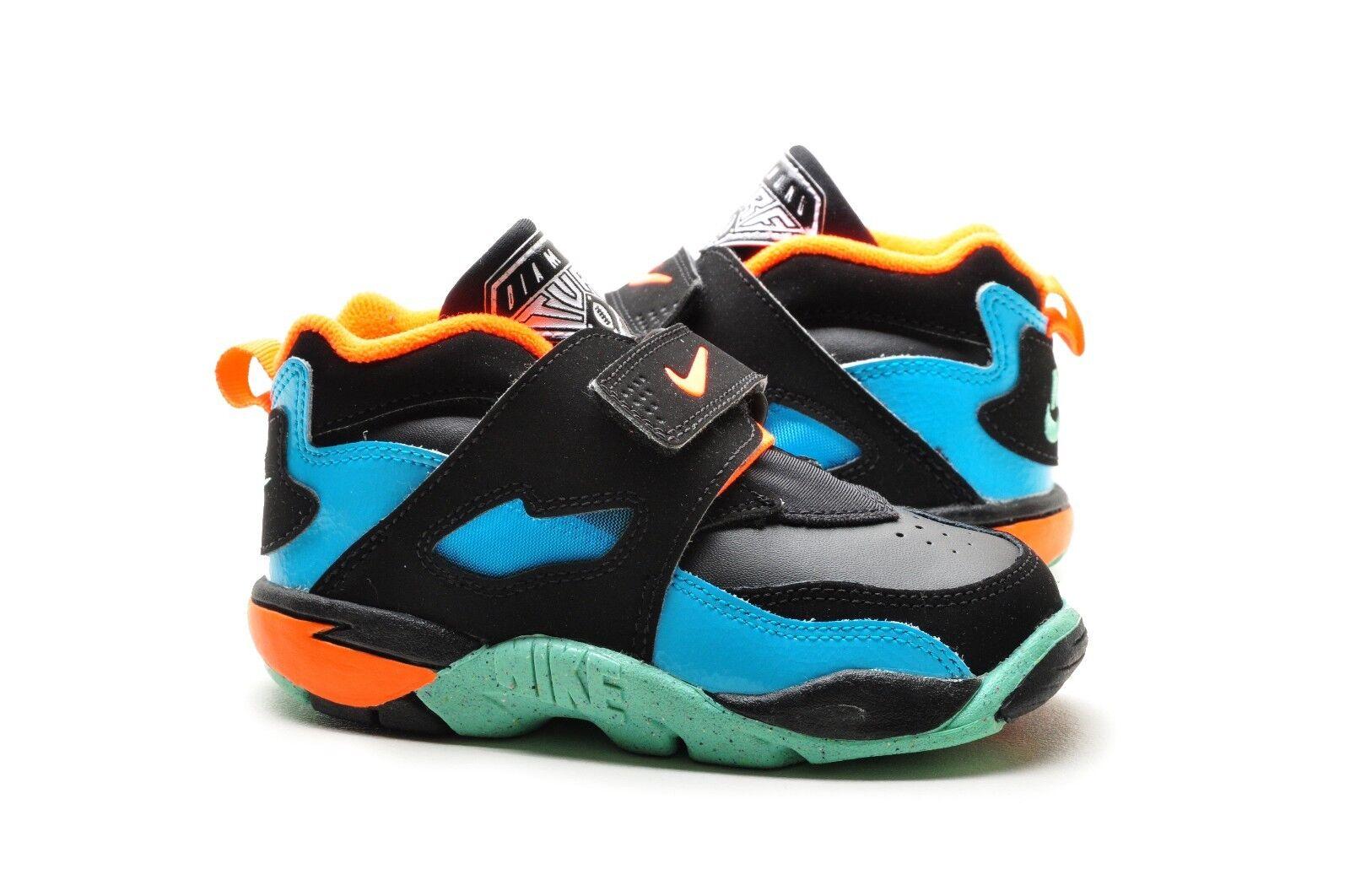 Nike Baby Kid shoes Diamond Turf 2 09 Toddler TD 407913-401 Gamma Blue Orange