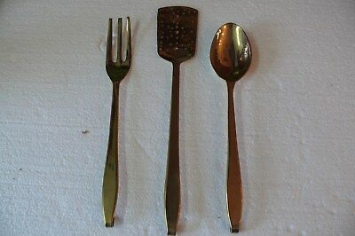 3- Piece Vintage Messingbesteck