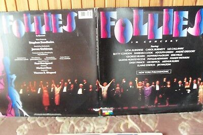 SOUNDTRACK - FOLLIES IN CONCERT - DOUBLE ALBUM - GATEFOLD SLEEVE - BOOKLET - £10
