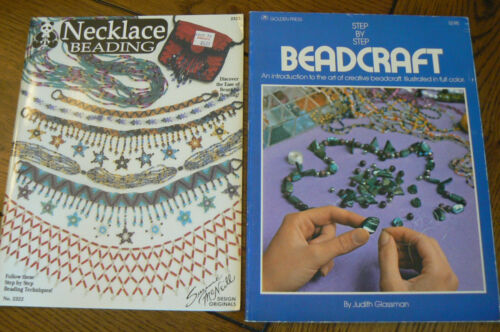 Lot of 2 Step By Step Beadcraft Necklace Beading Books Glassman McNeill