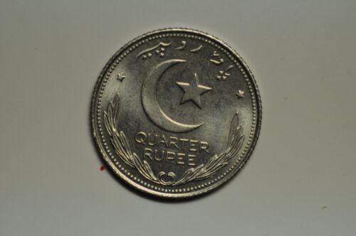 mw10822 Pakistan; 1/4 Rupee 1948  KM#5  PROOF